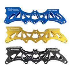 Jeerkool Inline Speed/Slalom Sepatu Bingkai untuk 3*110 Mm/4*80 Mm Roda 243 Mm aluminium Alloy Mempercepat Sepatu Roda Dasar DJ10