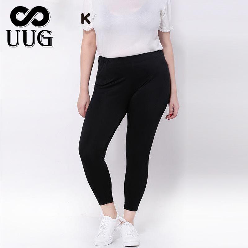 UUG femmes Leggings grande taille grandes tailles femmes vêtements grand Slim Legging pantalon 3xl femmes Leggins noir Capris 9th 4XL brillant