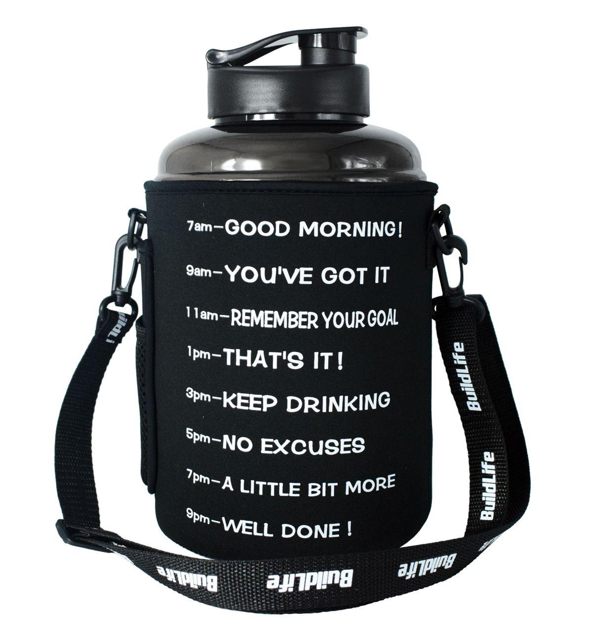 Quifit 2.2L 2.5L 3.78L Tasche Pack Hülse Abdeckung Träger Mit Schulter gurt Für Gallonen Sport Wasser Trinken Flasche Krug GYM sport