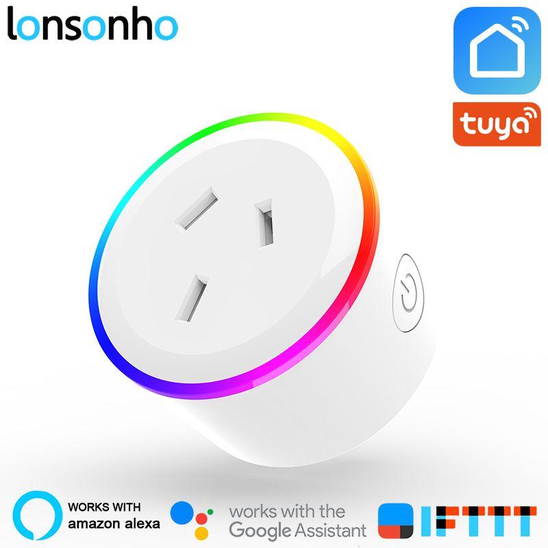 Lonsonho Smart Plug Wifi Smart Socket Australia New Zealand AU Plug Tuya Smart Life App Works With Alexa Google Home Mini IFTTT