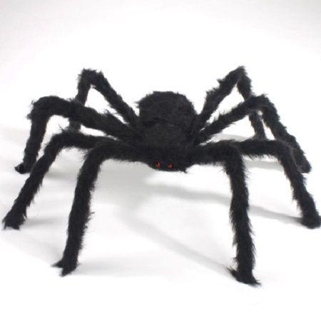 75cm à 200cm Super grande araignée en peluche Halloween décorations pour la décoration de la maison partie horreur maison Decora o festa fournitures faveur