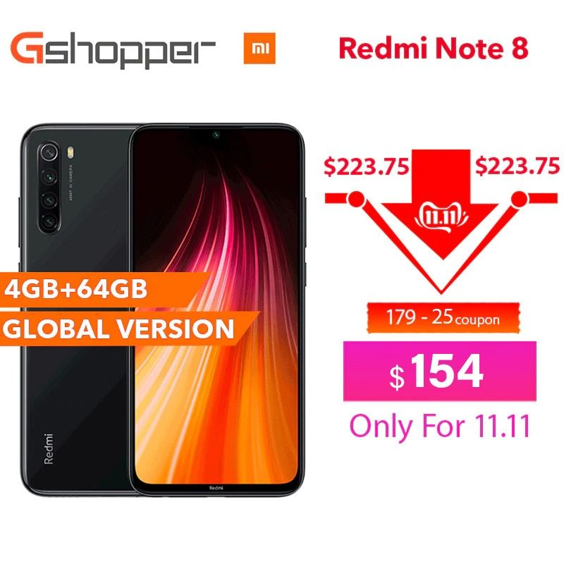 Global Version Original Xiaomi Redmi Note 8 4GB RAM 64GB ROM 6.3