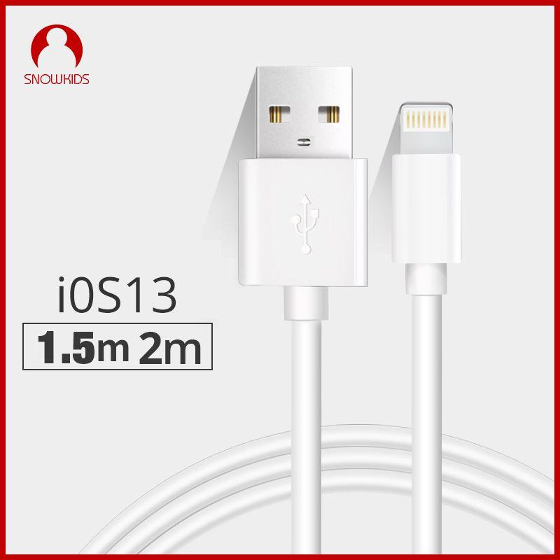 Snowkids 1,5 m 2m USB Kabel Ladegerät 2 Stück für iPhone 11X8 7 6 5 XR XsMax für Blitz zu USB Schnelle Ladung Bis Zu iOS12