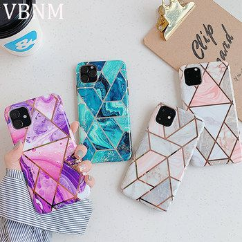 Luxury Rhombus Marble Phone Case For iPhone XR Case Soft Silicone Cover For iPhone X XS Max 6 6S 7 8 Plus 11 Pro Max Case Coque