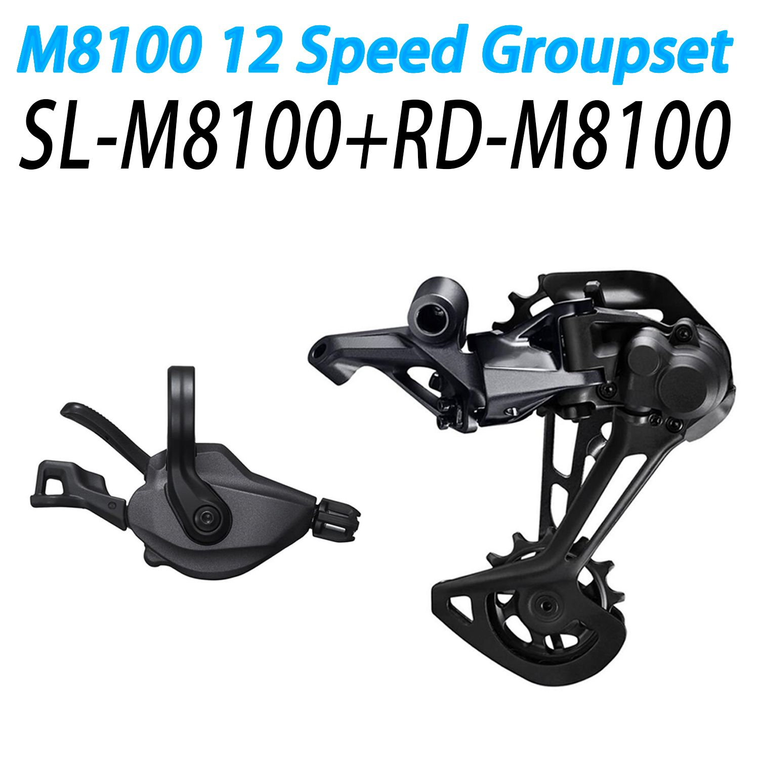 XT M8100 Groupset Mountainbike Groupset 1x12-Speed SL + RD M8100 Schaltwerk m8100 Shifter Hebel