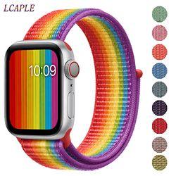 Band For Apple Watch strap apple watch 5 band 44mm 40mm Correa 42mm 38mm iwatch 5 4 3 2 1 nylon pulseira bracelet watchband belt