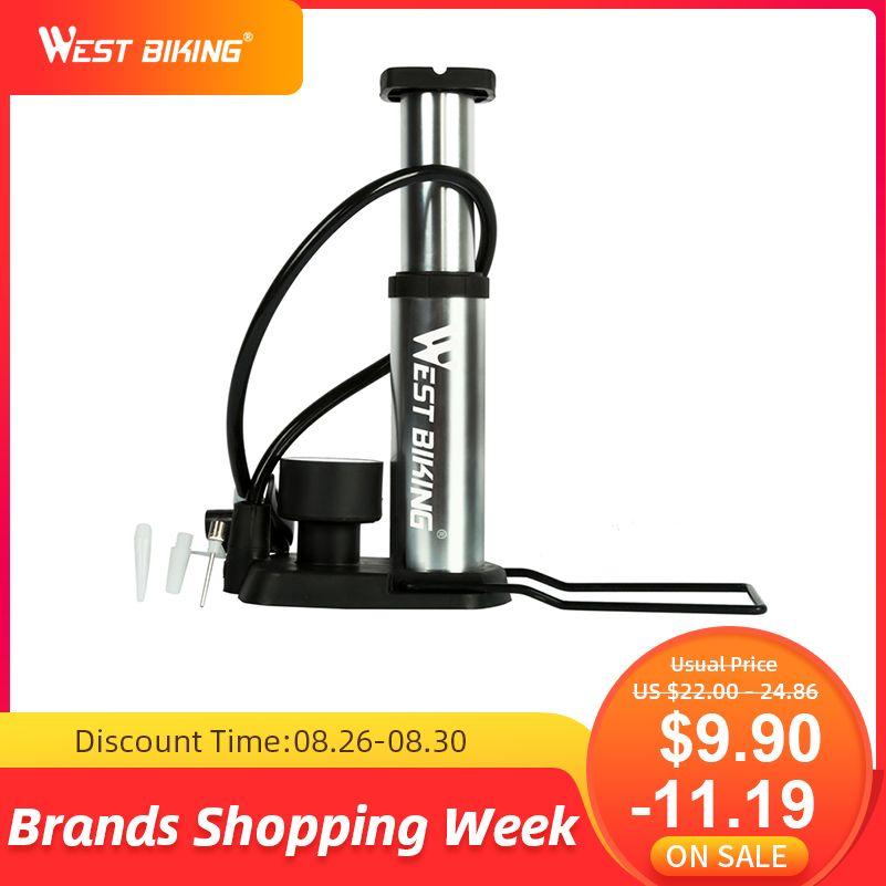 Pompe à vélo vtt Ultra-légère de vélo ouest gonfleur de vélo Portable pompe à vélo haute pression Bomba de ar bicicleta 100/120Psi