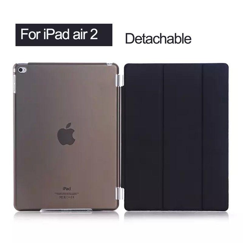 Pour ipad Air 2 étui Ultra mince léger Smart Stand couverture pour Apple ipad 6 9.7 pouces tablette avec fonction de sommeil/réveil automatique