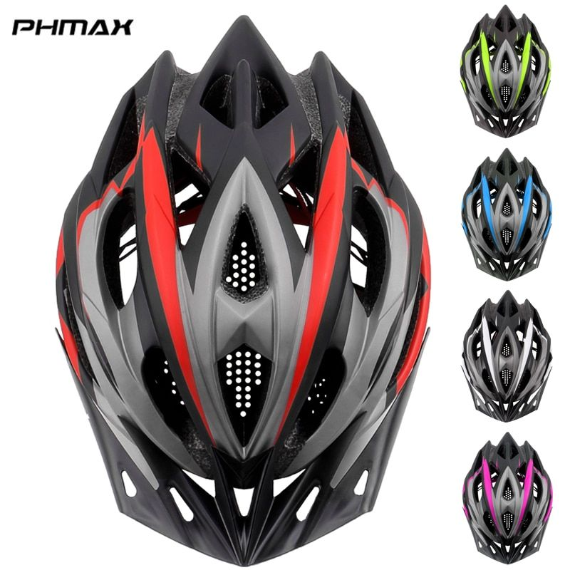 PHMAX 2019 Bicycle Cycling Helmet Ultralight EPS+PC Cover MTB Road Bike Helmet Integrally-mold Cycling Helmet Cycling Safely Cap