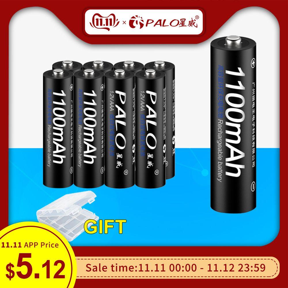 PALO 4 pièces 8 pièces 16 pièces d'origine 3A AAA batterie Rechargeable 1100mAh 1.2V AAA NIMH piles rechargeables bateria bateris 3A pâte