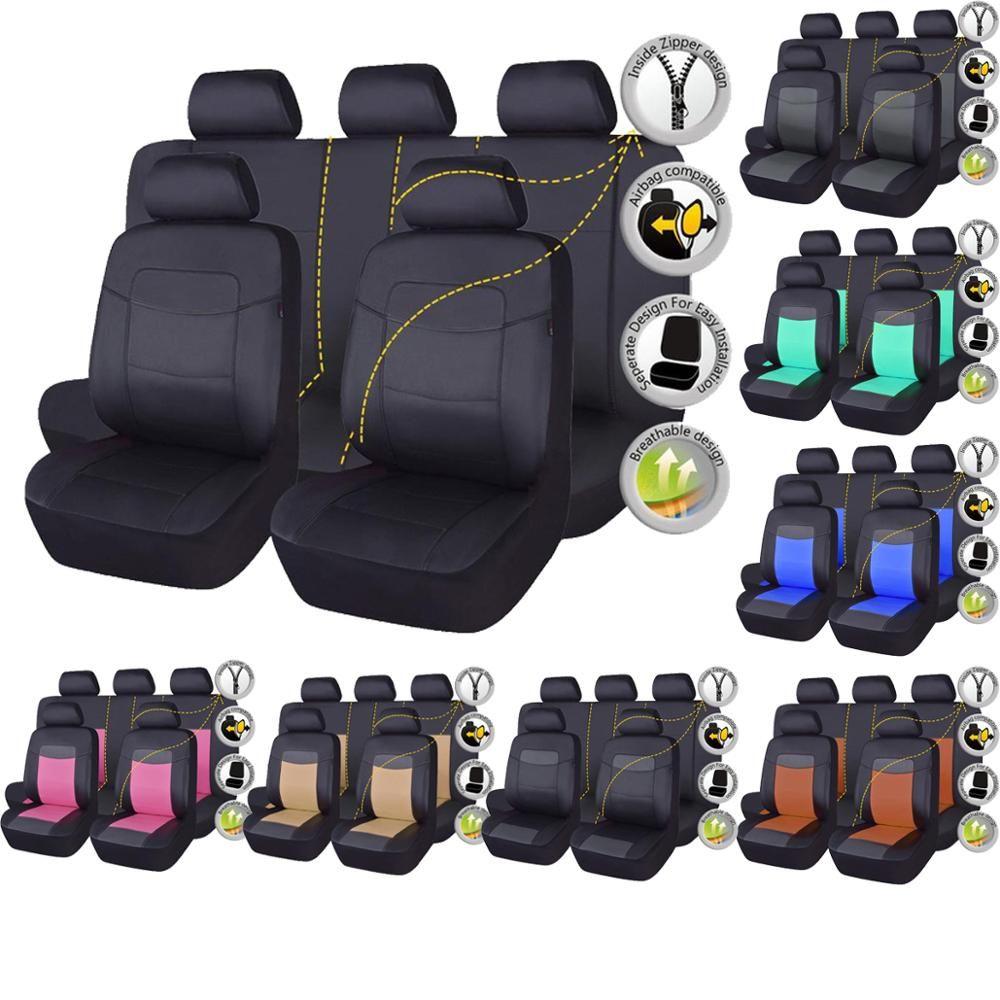 Haute qualité siège auto en cuir synthétique polyuréthane couverture universelle 8 couleurs Automobiles housses de siège pour Toyota Kalina Granta Priora Renault Logan