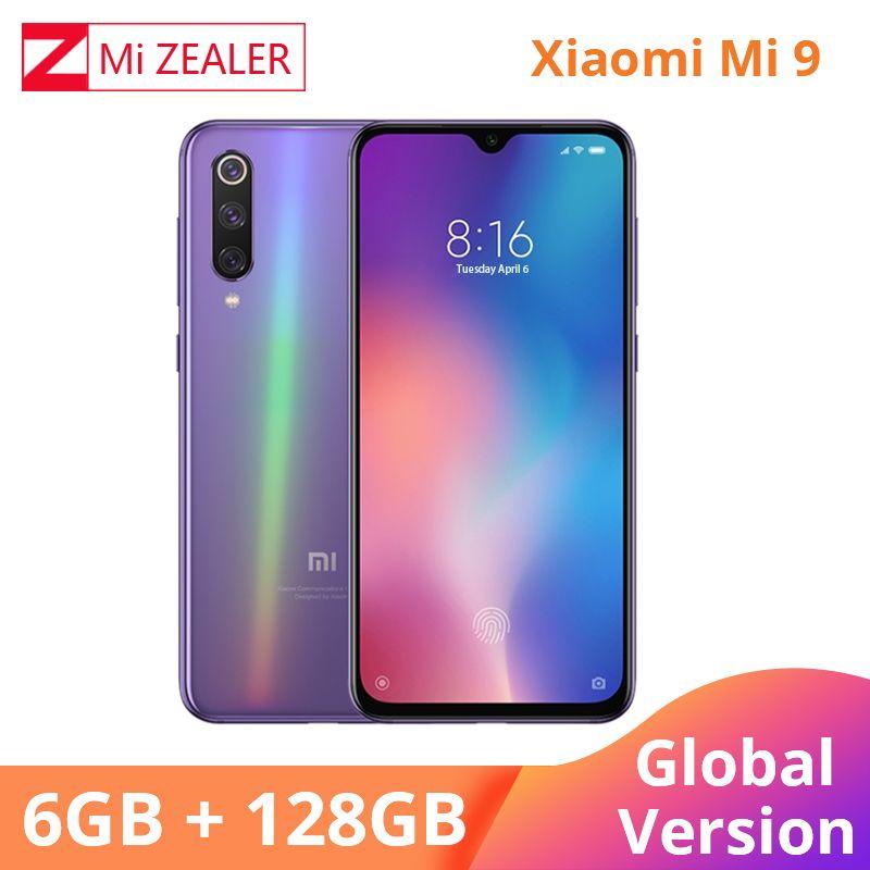 Globale Version Xiao mi mi 9 mi 9 Handy 6,39 zoll 6GB RAM 128GB ROM Snapdragon 855 octa Core 48MP + 16MP Triple Kameras Xio mi