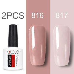 GDCOCO Nail Gel Polish Kits New Arrival Canni Supply Gel Nail Polish Soak Off UV LED Purple Lacquers Pink Gel Polish