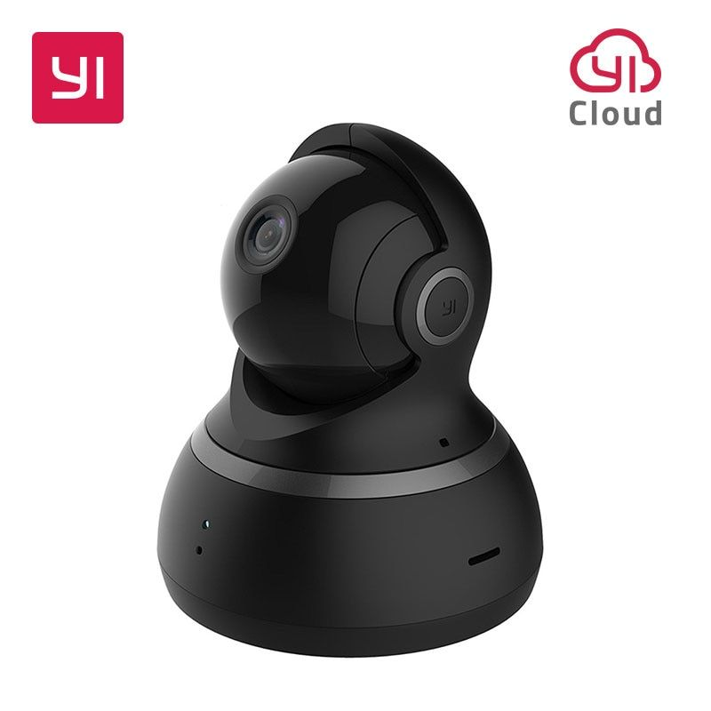 YI dôme 1080P caméra HD panoramique/inclinaison/Zoom système de Surveillance de sécurité IP sans fil complet couverture 360 degrés Vision nocturne noir