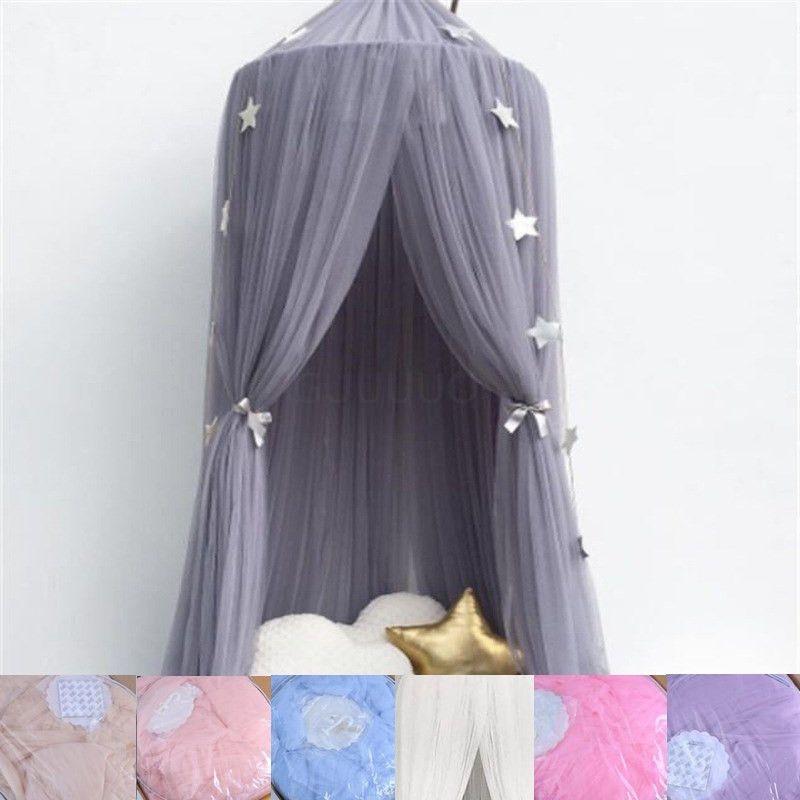 7 couleurs suspendus enfants bébé literie dôme lit baldaquin coton moustiquaire couvre-lit rideau pour bébé enfants lecture jouant décor à la maison