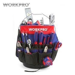 WORKPRO 5 Gallon Bucket Tool Organizer Bucket Boss Tool Bag with 51 Pockets Fits to 3.5-5 Gallon Bucket (Tools Excluded)