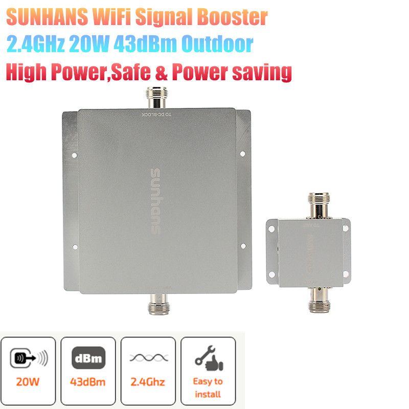 Original Sunhans 20W 43dBm Drahtlose Netzwerk WiFi outdoor-Signal Booster Verstärker 2,4 GHz Im Freien WiFi Signal Verstärker