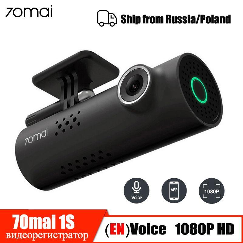 Contrôle vocal 70mai voiture DVR caméra 1080P HD 70 Mai Dash Cam voiture caméra Wifi Vision nocturne 130 grand Angle g-sensor enregistreur vidéo