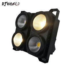 Kombinasi 4X100 W 4 Mata LED Blinder COB Dingin/Hangat Putih LED Daya Tinggi Profesional Tahap pencahayaan untuk Partai Lantai Dansa