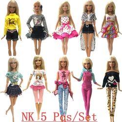 NK Campuran Gaya 5 Pcs/set Doll Dress Buatan Tangan Rok Fashion Pakaian untuk Boneka Barbie Aksesoris Bayi Mainan Terbaik Hadiah Panas dijual JJ