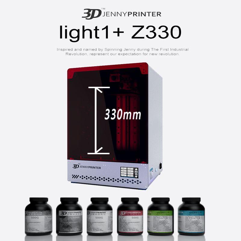 Jennyprinter licht 1 + z330 LCD/SLA/DLP 3D Drucker mit große druck volumen 190mm * 120mm * 330mm für Schmuck Dental Figur modelle