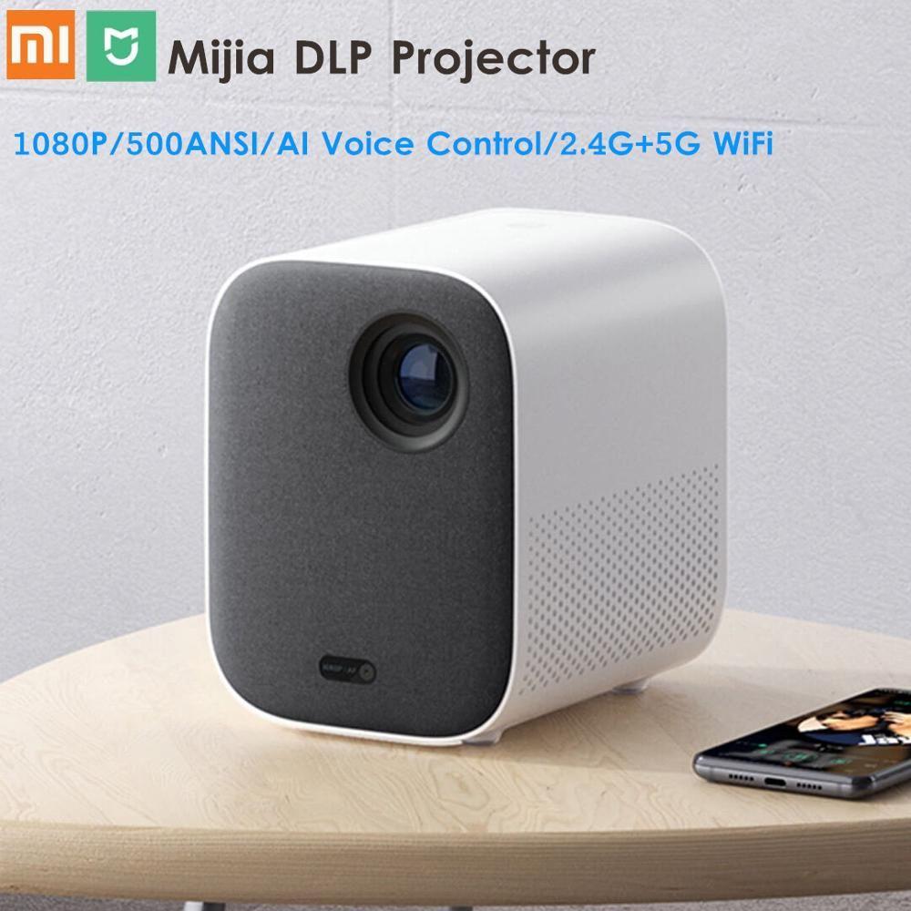 Xiaomi Mijia DLP Projektor 1080P Volle HD AI Stimme Fernbedienung 2GB DDR3 8GB eMMC 500ANSI 2,4G/5G WiFi 3D BT LED Projektor