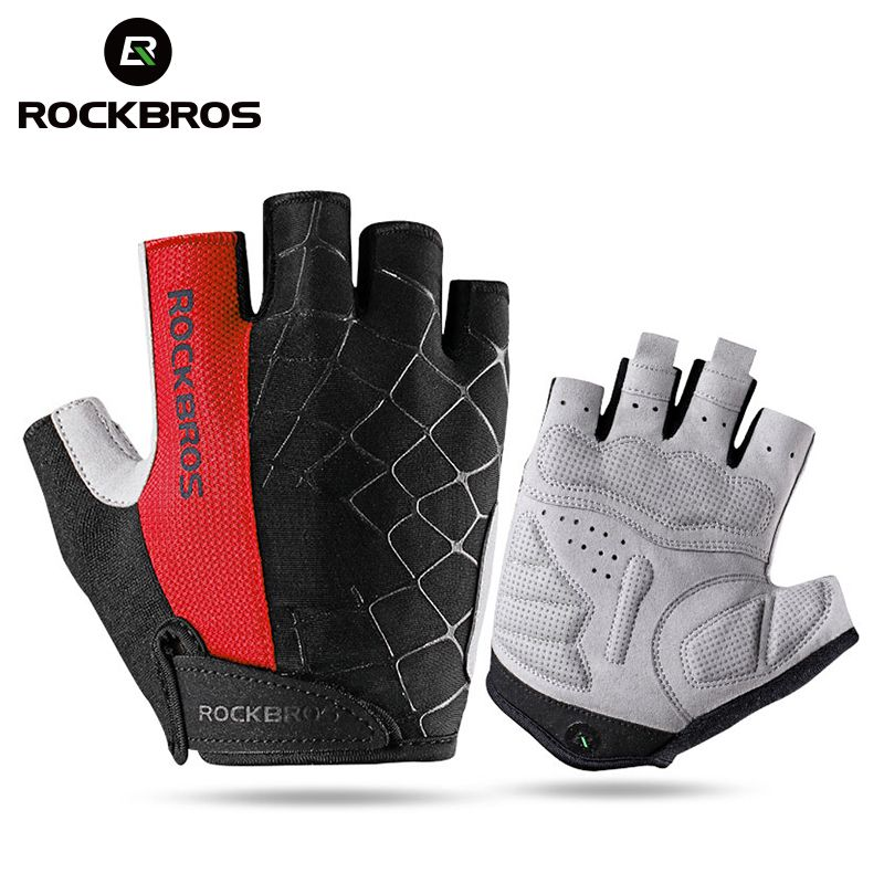 ROCKBROS gants de cyclisme demi doigt antichoc résistant à l'usure respirant vtt route vélo gants hommes femmes sport vélo équipement