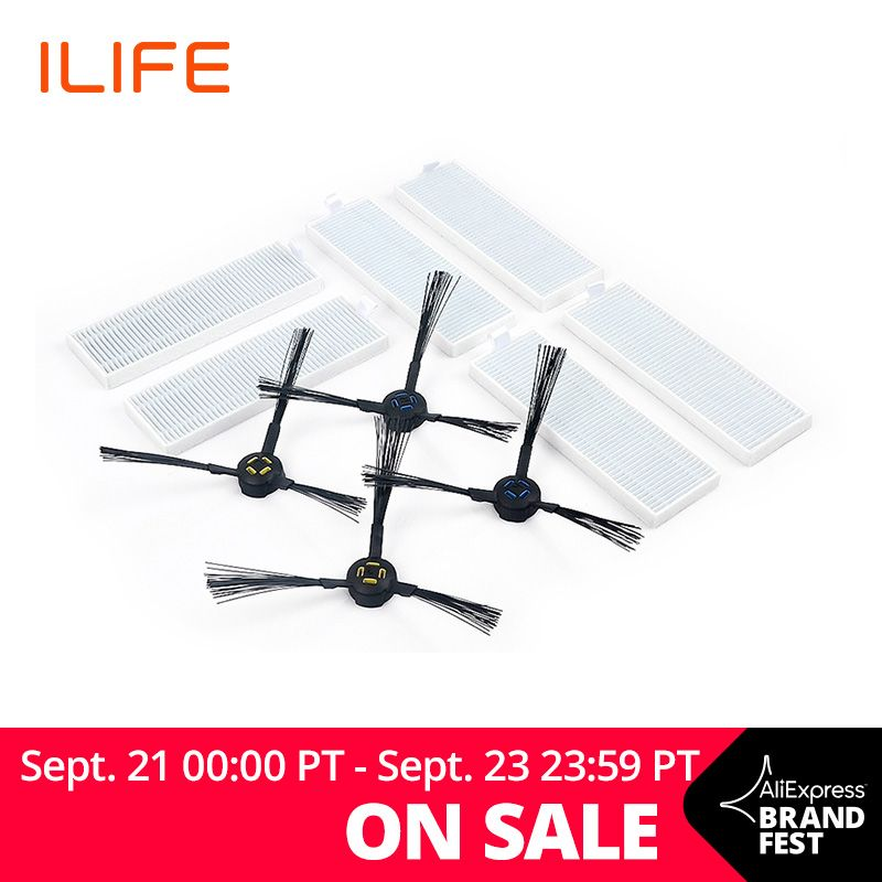 ILIFE A7 A9s Robot Vacuum Replacement Kits ,Filters and Side Brushes