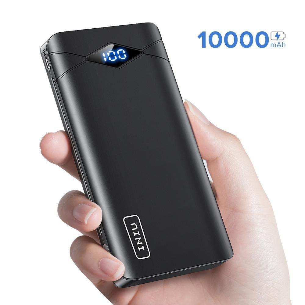 INIU 3A 10000mAh batterie externe à LED double USB Portable banque d'alimentation de chargeur pour iPhone Xiao mi téléphone externe batterie paquet