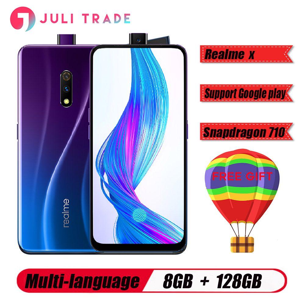 OPPO Realme X 4G LTE Handy 8GB 128GB Snapdragon710 6,53 AMOLED 3765mAh 48MP Fingerprint VOOC3.0 Typ -C entsperrt smartphone