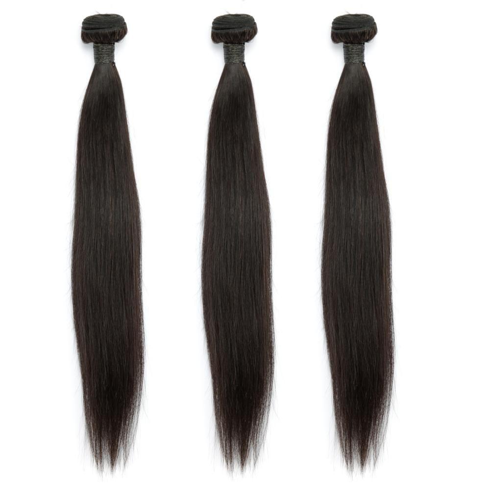 Cheveux raides 100% paquets de cheveux humains couleur naturelle 1/3/4 paquets Extensions de cheveux indiens MIHAIR droit Remy tissages de cheveux
