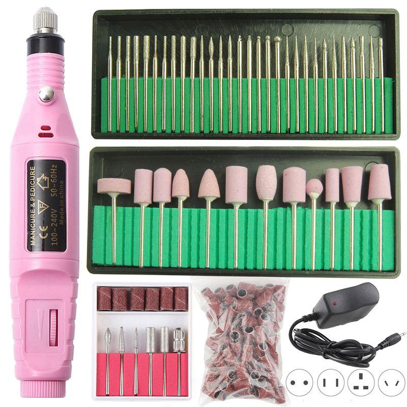 1 Set puissance professionnel électrique manucure Machine stylo pédicure lime à ongles 6 Bits perceuse à ongles Machine forte ongles outils