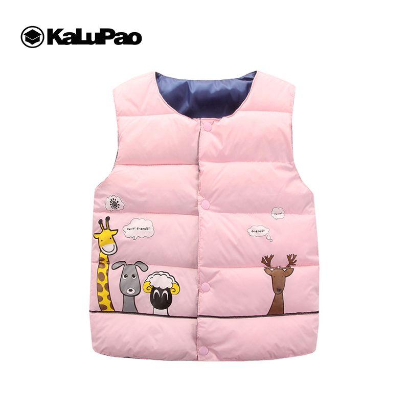 Kalupao girafe Cartoon 100% coton Parkas enfants filles gilet chaud pour garçon manteau vers le bas et enfants gilet vêtements d'hiver