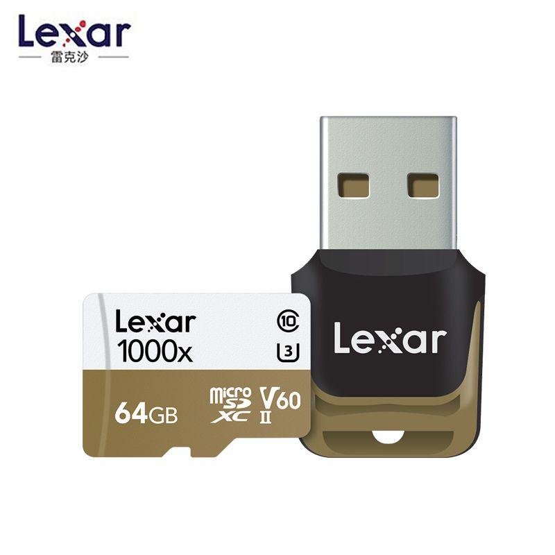 2019 nouveau Lexar 150 mo/s 1000x Micro SD 32GB classe 10 64GB micro SDXC 128GB tf lecteur de carte mémoire UHS pour Drone Sport caméscope