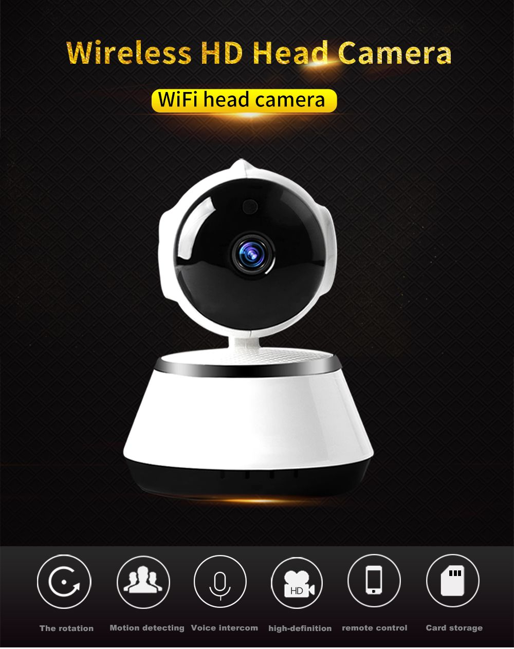 N_eye 1080p PTZ Indoor Smart Home Camera Night Vision 360 Degree Panoramic Fish Eye camera Baby Monitor pet IP camera