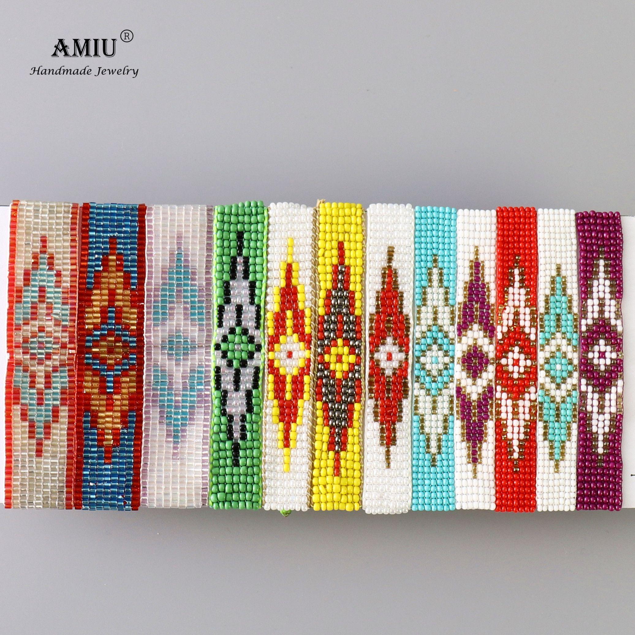 AMIU fait à la main paquet à vendre bohème armure perles amitié Bracelet tissé corde chaîne emballage ensembles 12 pièces pour femmes hommes