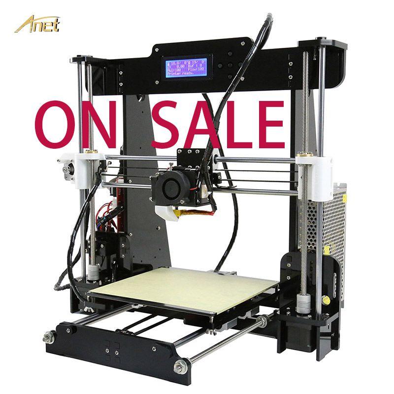 Anet Hohe Präzision A6 A8 Desktop 3D Drucker Automatische Nivellierung 8GB SD Karte