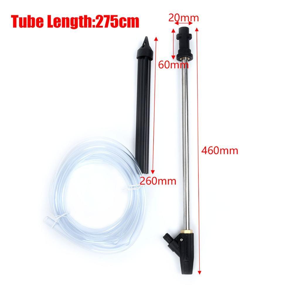 150bar Pressure Washer Lance Turbo Nozzle+Sandblasting Tube For Karcher K Series high pressure hose Car Washer Wet Sand Blaster