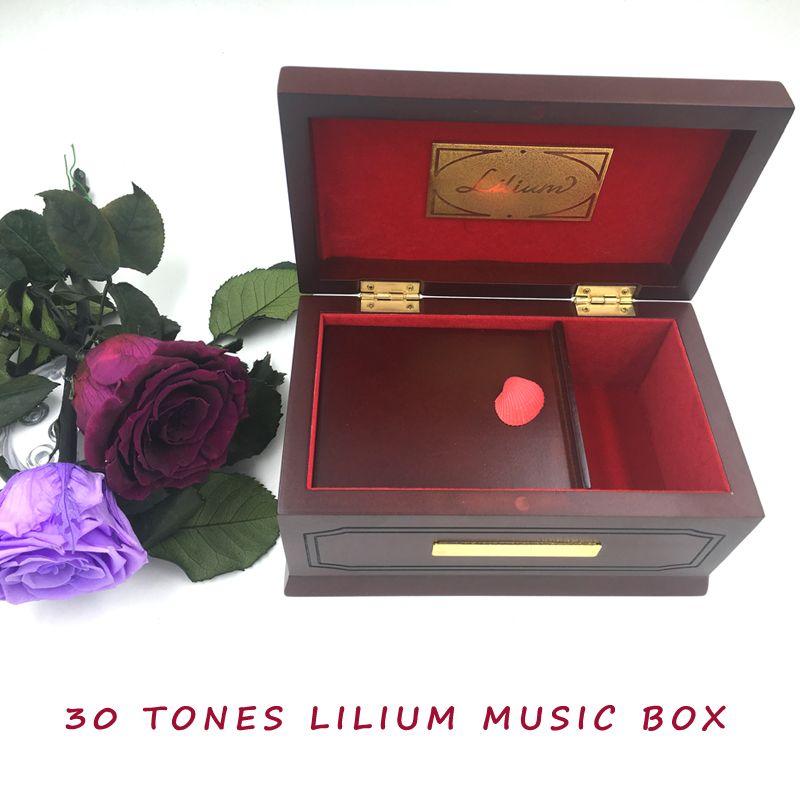 30 tons édition Lilium Elfen menti Original boîte à musique en bois, hêtre, bois massif, Lilium boîtes à musique pour fille saint valentin cadeau