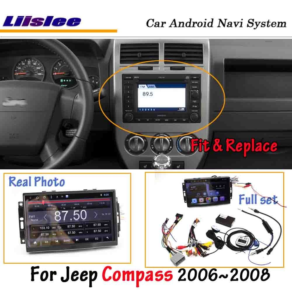 Liislee Android 8.0 Für Jeep Kompass 2006 ~ 2007 Auto Stereo Radio BT Carplay Bildschirm Video GPS Navigation Multimedia Keine DVD player