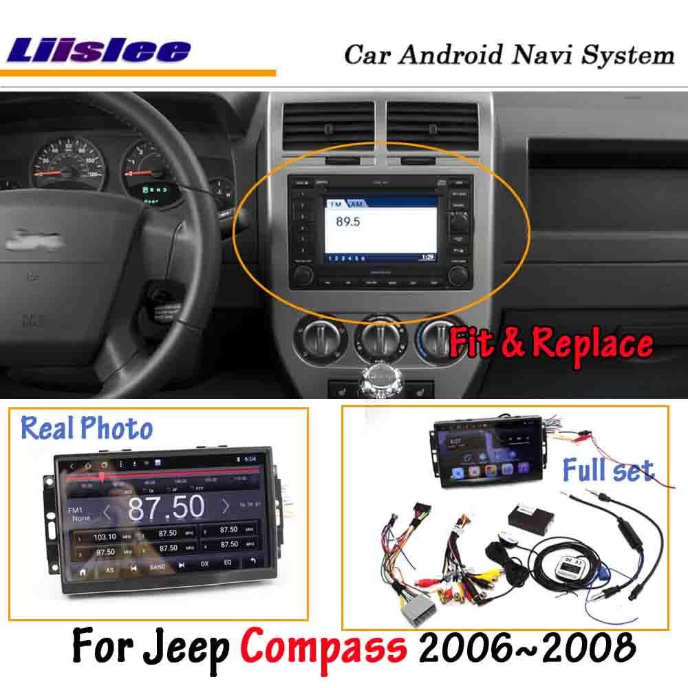 Liislee Android 8.0 Für Jeep Kompass 2006 ~ 2007 Auto Stereo Radio BT Carplay Bildschirm Video GPS Navigation Multimedia Keine DVD player