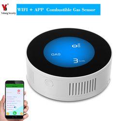 Yobang Security WiFi Wireless Gas Detector Alarm Sensor Gas Leakage Sensor Natural gas leak detector with APP control