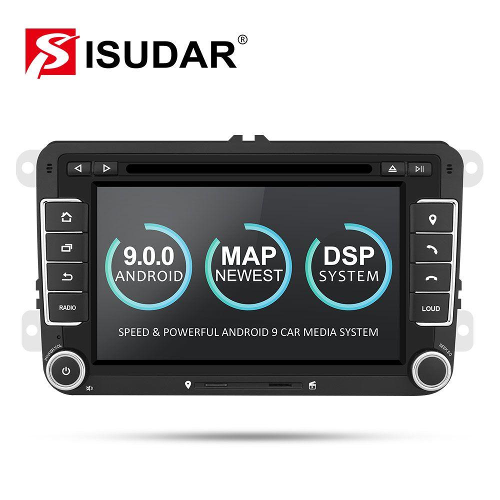 Isudar Auto Multimedia Player Android 9 GPS 2 Din Für VW/Golf/Tiguan/Skoda/Fabia/Schnelle /sitz/Leon Canbus Automotivo DVD Radio DSP