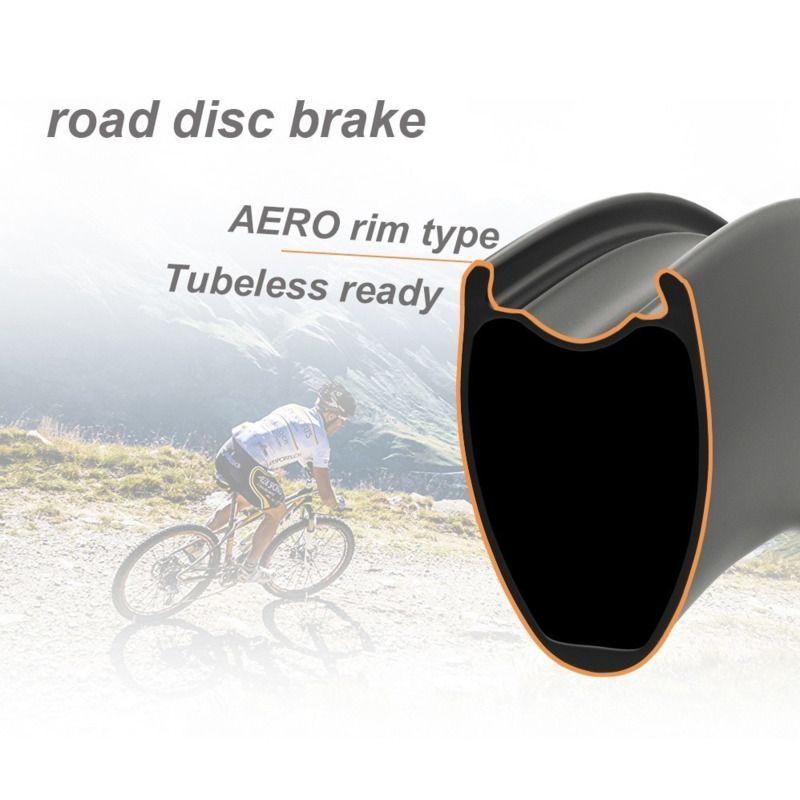 Elite PRO-DISC 700c Carbon Road Räder Disc Fahrrad YAn RD05 HUB 24-24 Löcher Tubular Klammer Tubeless bereit Road Fahrrad Rad