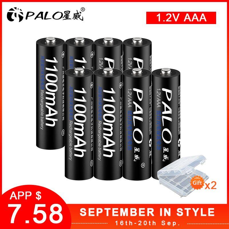 Batterie Rechargeable ensemble de piles 3A AAA Rechargeable AAA 1100mAh 1.2V PALO NI-MH 3A batterie Baterias Bateria pour jouet lumineux à LED mp3