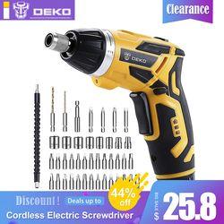 DEKO GCD3.6DKB Cordless Electric Screwdriver Household Lithium-Ion Rechargeable Drill/Driver Power Gun Tools LED Light BMC