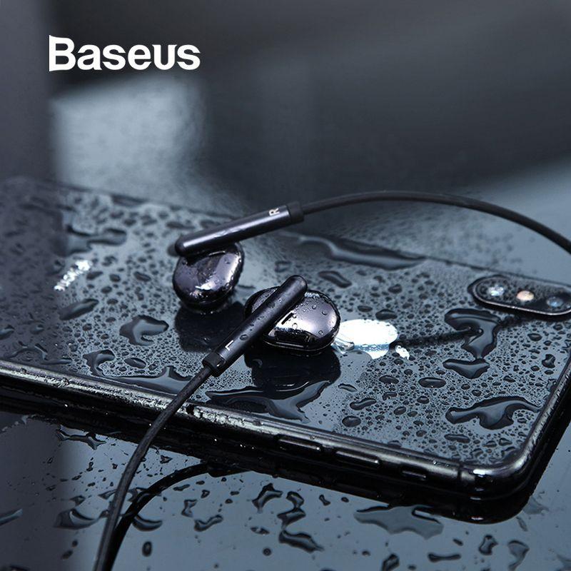 Baseus S30 Bluetooth Earphone Wireless Lightweight Sport earphones IPX5 Waterproof 3D Stereo Bass Earphone with HD Mic for Phone