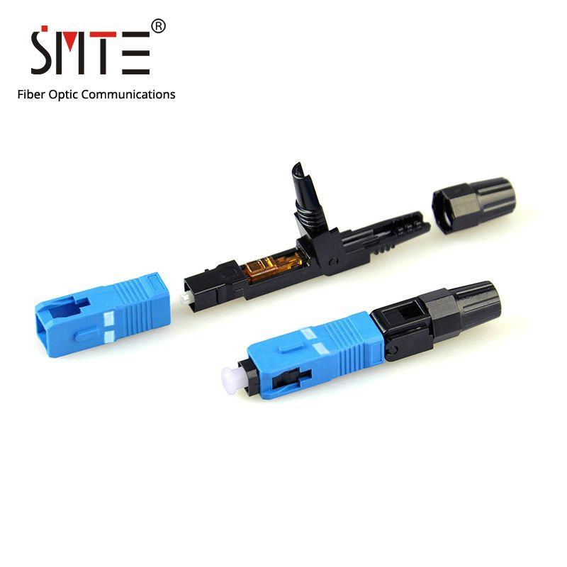 100 pcs/lot SC UPC NPFG 8802-TLC/3 XF-5000-0322-3 60mm 0,3 dB stecker SC-UPC schnelle stecker Optische faser