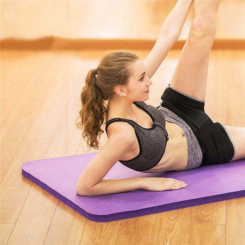 SGODDE 183*61*1cm Thickess Non-Slip Yoga Mat Sport Gym Soft Pilates Mats Foldable for Body Building Fitness Exercises Equipment