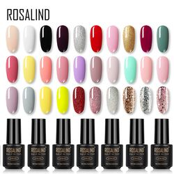 ROSALIND Gel Nail Polish Rainbow colors for nails art Manicure UV LED with Base Top coat for Poly gel varnishes